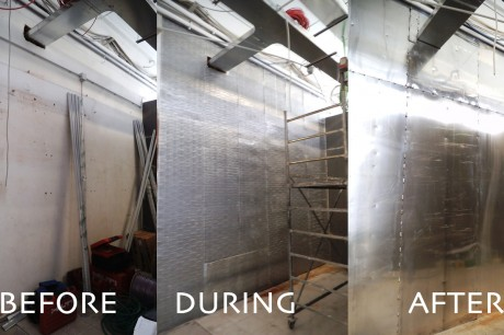 installation of shielding systems in a coop supermarket