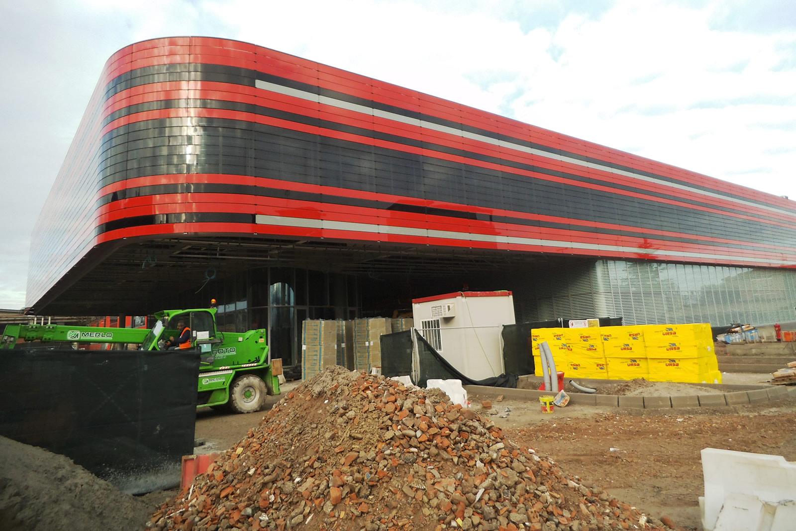 Ferrari ges building in Maranello